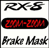MAZDA RX-8 ZOOM-ZOOM BRAKE MASK DECAL
